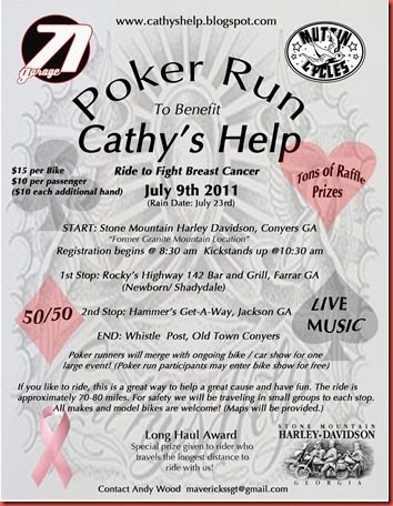 Dont Forget About Cathys Help Poker Run And Bike Show The Cycle