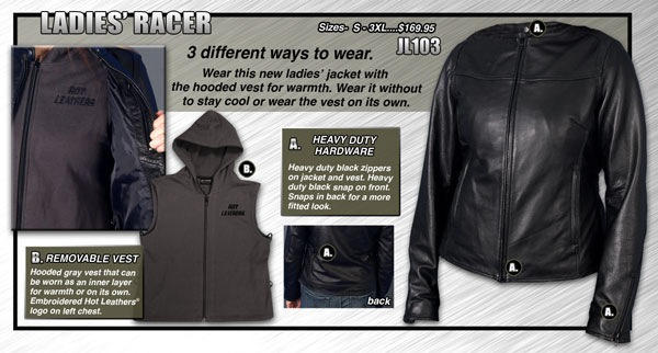 Hot Leathers Mens Heavy Leather Vest Black, Small