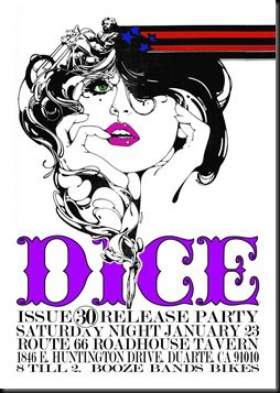 dice issue 30 release party flier