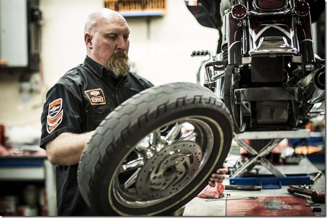 Authorized H-D Dealer Tire Service