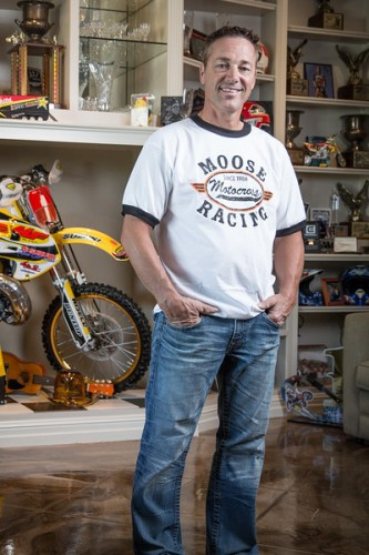 Retired motocross racer Rodney Smith photographed Friday, August 07, 2015 at his home in Antioch, Calif.