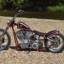 "Bling's Cycles Evo Bobber ""Lil Red Ridinghood"""